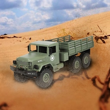 цены 2018 New WPL B-16 1/16 2.4G 4WD Off-Road RC Military Truck Rock Crawler Army Car