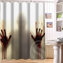 "Bathroom Polyester Fabric Bath Curtain Printed The Walking Dead Horrible Pictures Shower Curtain 66×72"" Free Shipping"