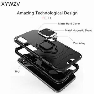 Image 4 - Vivo Y95 Case Shockproof Cover Hard PC Armor Metal Finger Ring Holder Phone Case For Vivo Y95 Protection Back Cover For Vivo U1
