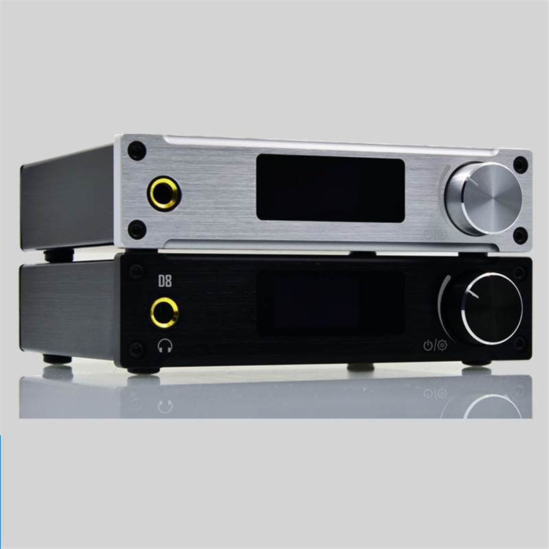 ALIENTEK D8 Class d Amplifier 80W*2 HiFi Stereo Audio Digital Headphone Amplifier Coaxial/Optical/USB DAC PCM2704 gustard h10 high current 25w 2 discrete class a hifi stereo headphone amplifier