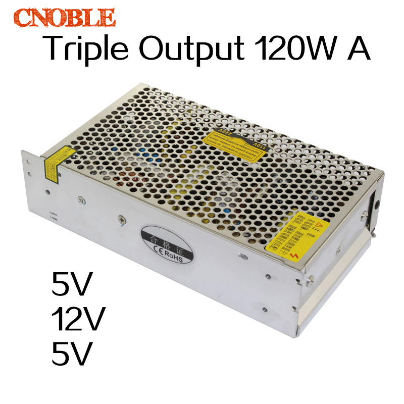 120W Triple output 5V 12V -5V Switching power supply smps AC to DC