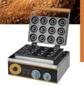 Electric 12 Holes Dounts Cookie Making Machine 1.5kw Donut Maker Machine Plate Round Cake Machine