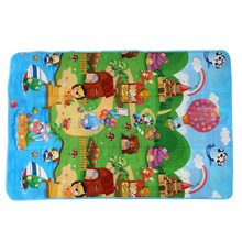 Baby Play Mat 180x120x0.5cm Crawling Mat Double Surface Baby Carpet Rug Animal Car+Dinosaur Developing Mat for Children Game P double surface baby play mat 200 180 0 3cm crawling mat baby carpet animal car dinosaur developing mat for children game mats