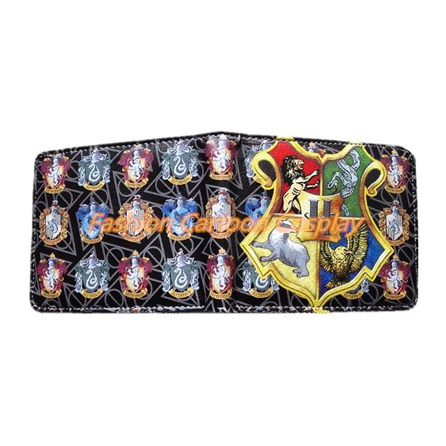 Harry Potter Wallet Student Wallet Slytherin Badge Design Money Bag Purse