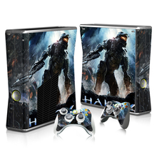 Queda livre Navegação Nova Capa Do Jogo Protector Vinyl Full Set Etiqueta Para Xbox 360 slim 360 Acessórios de Pele + 2 Matching controlador