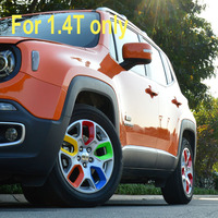 20pcs Lot For Car Styling Jeep Renegade Accessories Wheel Hub Stickers Sticker Cover Rim Protector Colored