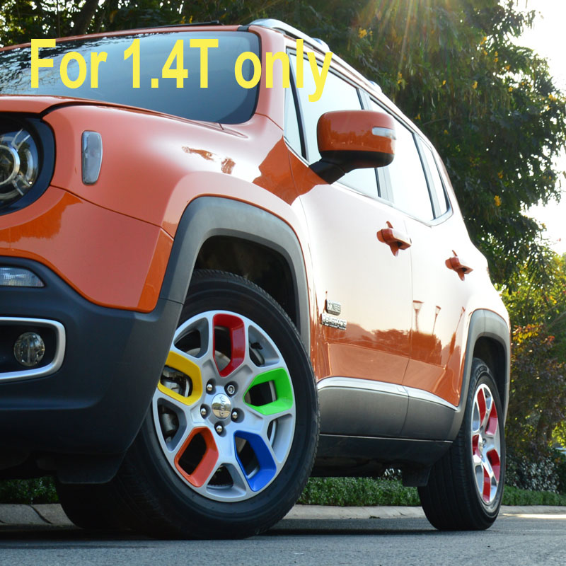 цена на 20pcs/lot For Car Styling Jeep Renegade Accessories Wheel Hub Stickers Sticker Cover Rim Protector Colored Wheels Rims 2017