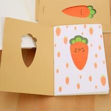 купить 1pc/lot Kawaii Cartoon Carrots Kraft Paper Stationery Diary A5 Notepad Planner Weekly Book Travel School Supplies Sutdent Gift онлайн