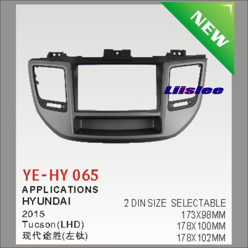 ФОТО Double 2 DIN Audio Front Surround Frame ABS Panel Fascia Board For Hyundai Tucson  2015 Dash Mount Kit Adapter Bezel Facia