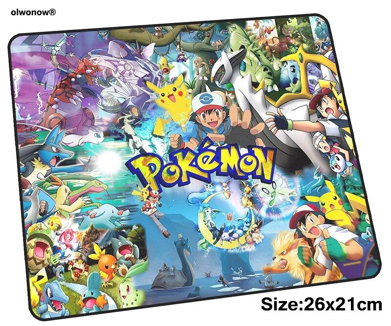 pokemons pad mouse computador gamer mause pad 260x210x3mm padmouse Domineering mousepad ergonomic gadget Beautiful office mats 1