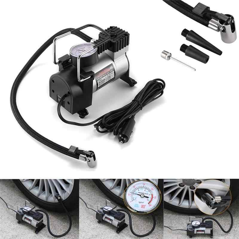 Onever 12V 150PSI Displacement Auto Tire Inflator Portable Air Compressor Pump With Cigarette For Cars Bicycles Motorcycles