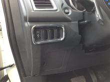 Auto inerior accessories, light switch button trim,inner car styling for Mitsubishi ASX , auto accessories