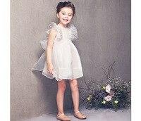 Newborn Baby Girls Kids Princess Wedding Party Summer Snow White Sleeveless Tutu Dresses Costume Clothes 2 7 Years Kids Clothes