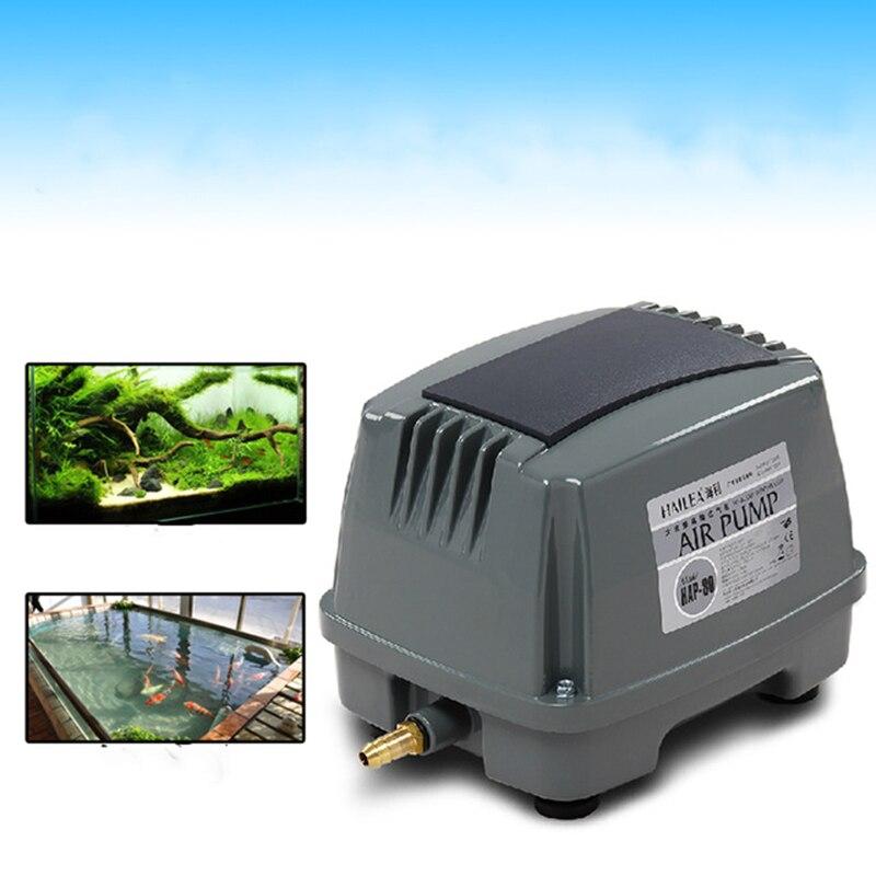 45W 60L/min Hailea HAP-60 Hiblow Aquarium Fish Tank Septic Oxygen Air Pump Aqua Blower Hydroponic Pond Compressor