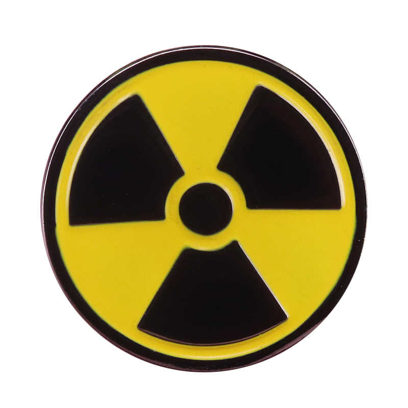 Radioactieve Fallout Symbool Knop Badge Grappig Spel Pins Unisex Jassen Rugzak Accessoire