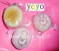 kawaii Pink cartoon cooker chick bun squishy phone charm/mobile pendant/chain/ Strap/handbag pendant/ christmas gift