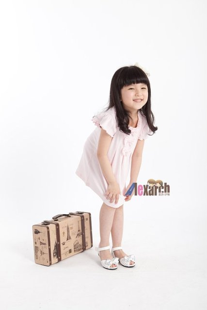 Free shipping!!Factory Direct! HOT SELLING! TOP QUALITY! Children's clothing fashion baby girls short-sleeved lace dress 0345
