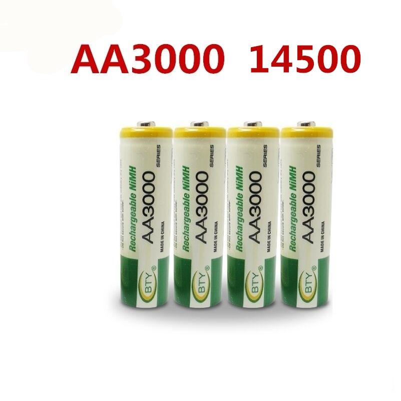 14500 перезаряжаемая батарея AA 3000 мАч 1,2 в Ni-MH, светодиодсветодиодный игрушка, проигрыватель, переработка игрушек, батареи разных цветов GTL ...