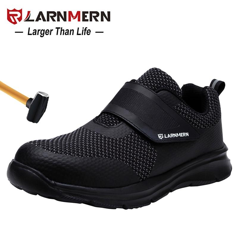LARNMERN dos homens Biqueira De Aço Sapatos de Segurança Calçado De Protecção de Construção Leve 3D Sapatilha Sapatos de Trabalho À Prova de Choque Para Os Homens