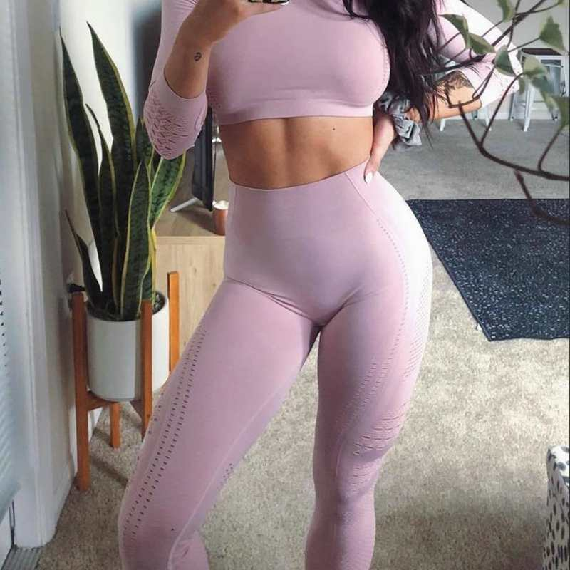 Women-New-Flawless-Knit-Tights-Gym-High-Waisted-Seamless-Leggings-Eyelet-Knit-Fitness-Yoga-Pants-Girl (1)_conew1