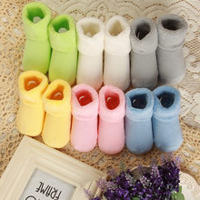 0-2 Years 1 Pair Toddler Infant Soft Socks Booties Newborn Winter Warm Boots Shoes Baby Girl Boy(China)