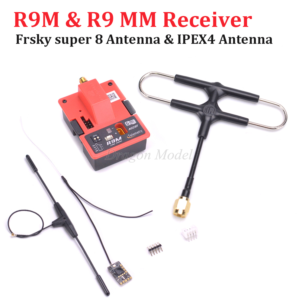 Frsky R9M/R9M Lite Modul + R9 MM 900 mhz Mini Empfänger + Original Frsky IPEX4 & super 8 antenne combo