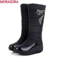 plus size 35-44 hot 2017 new women winter boots warm cotton down shoes waterproof boots snow boots fur platform knee high boots