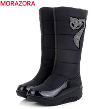 Plus size 35-44 Hot 2016 new Women Winter Boots warm Cotton Down shoes waterproof boots snow boots fur platform knee high boots