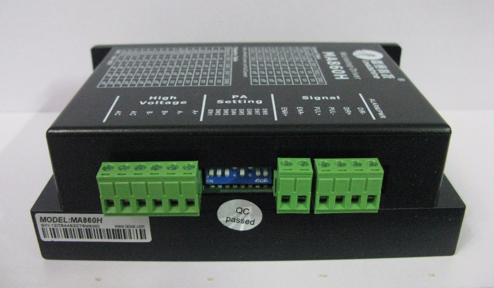 Leadshine 2 phase stepper Driver MA860H work 24-80 VDC out1.8A to 7.2A fit NAME 34 Stepper motor 3.5NM or 4.5NM leadshine ma860h 2 phase stepper drive with 50 110 vdc or 36 80 vac voltage and 2 4 7 2a current pure sinusoidal current control