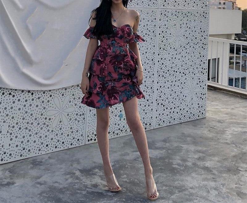 Sexy Floral Streetwear Beach Imprimé Wang Whitney Mode Femmes Multi Été Printemps Holiday 2019 Robe Bretelles Mini YwgX8q