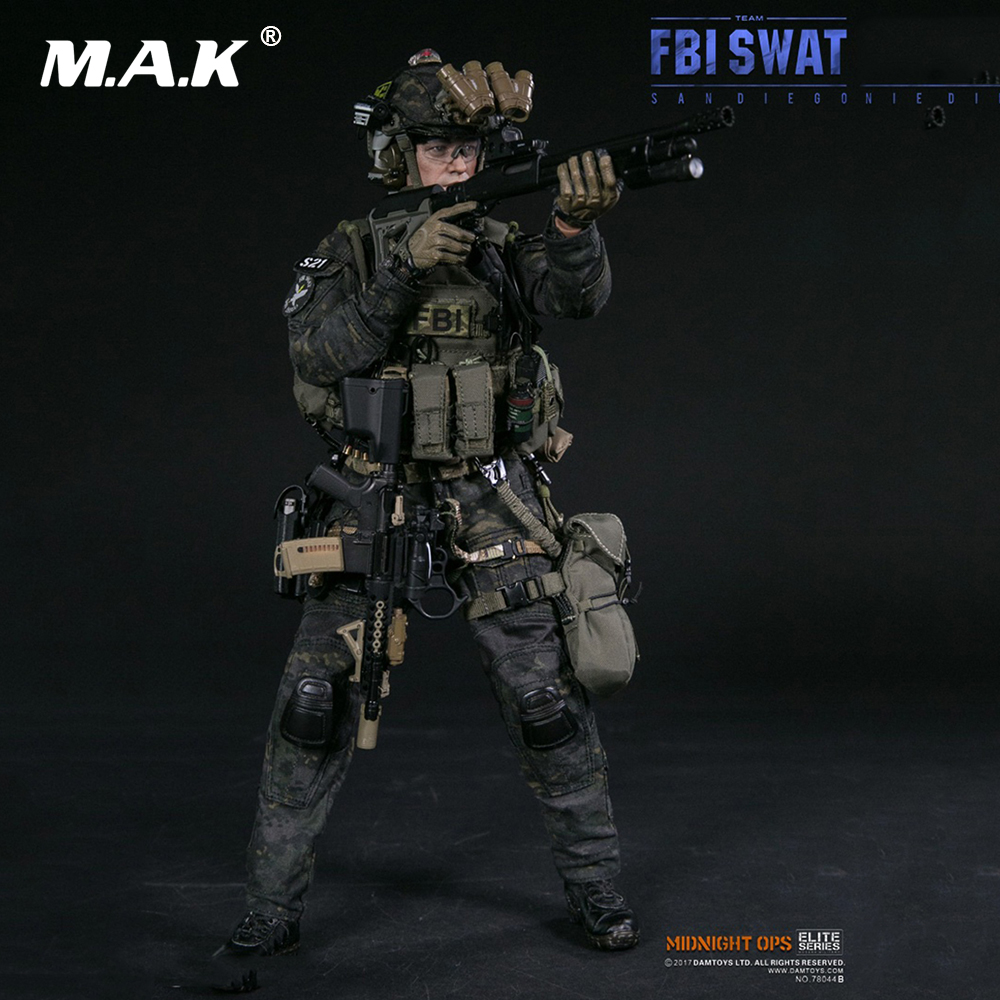 Collectible Full Action Figure Model 1 6 American FBI SWAT Team Detective Agent SAN DIEGO Detective