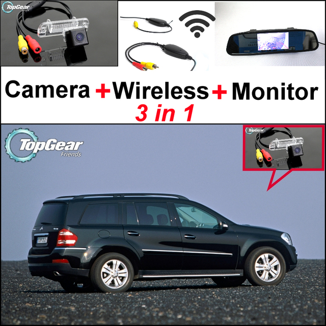 3in1 Special Wifi Camera Wireless Receiver Mirror Monitor Backup Parking Rear View System For