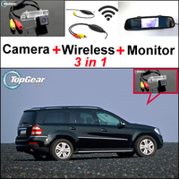 3in1 Special WiFi Camera + Wireless Receiver + Mirror Monitor Backup Parking Rear View System For Mercedes Benz GL X164