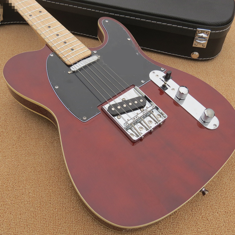 Factory custom red wine electric guitar, black guard board, white hardware, maple finger board, provide customized, free deliveFactory custom red wine electric guitar, black guard board, white hardware, maple finger board, provide customized, free delive