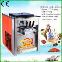 free ship 22 liters/H 220V 50HZ Vertical ice cream machine, Ice Cream Machine, 3 flavors Ice Cream Maker, Icecream Machine