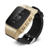 Brand New D99 0 96 OLED Screen Elder Smart GPS Watch Tracker With Alarm Clock Intercom