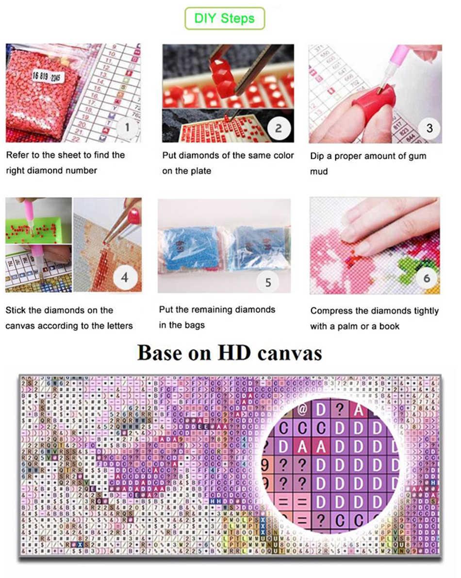 Cartoon diamant mosaik elefanten tiere diamant kunst malerei zeichnung steine bild wand hängen dekor aufkleber stickerei stich