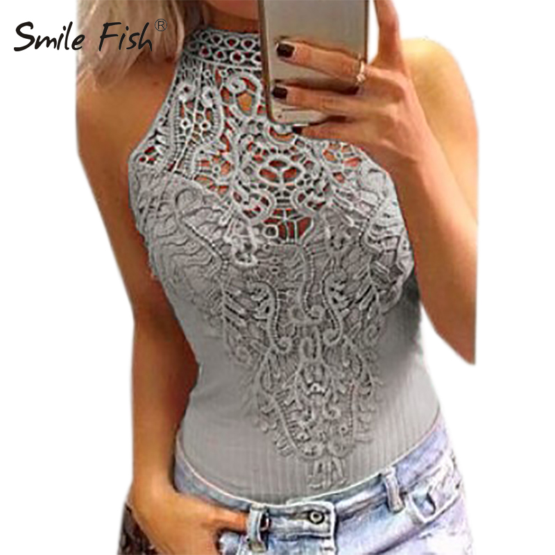 Body Sexy Bodysuits Women 2018 Summer Bodycon Sleeveless Lace Bodysuit Romper   Jumpsuit   Feminino Hollow Out Overalls Button GV777