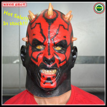 Free shipping Adults Size Cosplay Darth Maul mask costume of party horror latex full head mask halloween Movies Face mask Toys