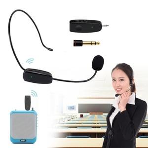 Image 2 - Neue UHF Wireless Mikrofon Professionelle Kopf tragen Mic für Stimme Verstärker Computer