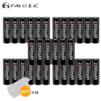 PALO wholesale original 30pcs 18650 rechargeable batteries 3.7V 2350mah lithium battery pilas 18650 alta calidad li ion battery