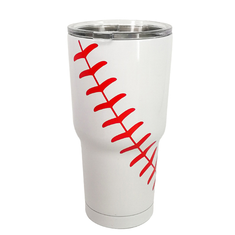 Hot Sell Monogram 30OZ Cups Summer Sports Softball Baseball Pattern Tumblers Travel Car Camping Drink Bottles