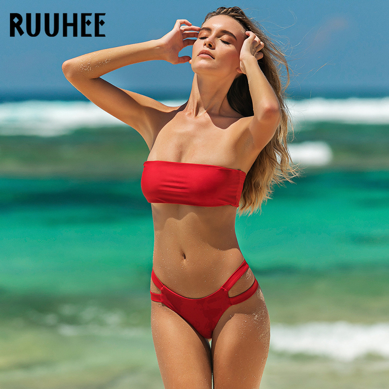 Womens Cutwork Detail Bikini Set Swimwear Ladies Holiday Swimsuit Beachwear Bra