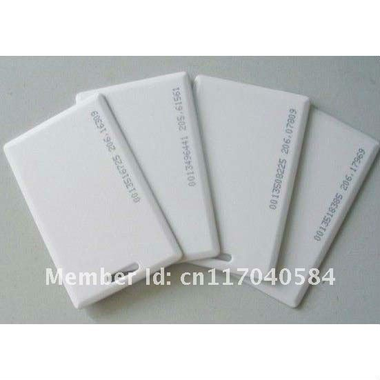 Free Shipping Proximity EM ID thick Card with hole,125KHZ RFID card,ID card with number/code turck proximity switch bi2 g12sk an6x