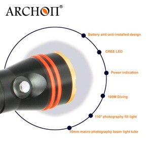 Image 5 - ARCHON D11V II W17V II d11v Tauchen Video Licht 1200 LM 100M Unterwasser Lichter * L2 U2 LED Taschenlampe Fotografie Dive taschenlampe