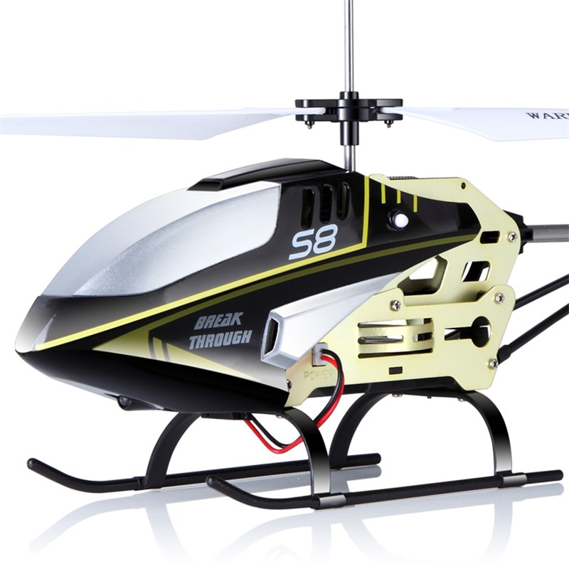 Remote Control Flashing LED Aluminum RC Helicopter 3.7V SYMA S8 3CH with Gyro Mini Drone Electric Toys for Child Adult syma 107e remote control mini drone 3ch rc mini helicopter gyro crash resistant baby gift toys smallest helicopter kid air plane