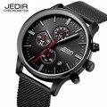 Мода простой стильный Luxury brand JEDIR Часы мужчины Из Нержавеющей Стали Кварцевые часы тонкий Наберите Часы человек megir Relogio Masculino