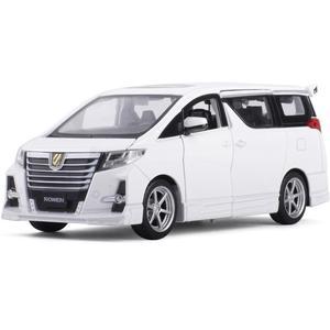 Image 4 - Squisito regalo 1:32 Hong Kong alphard modello di auto in lega, simulazione die cast suono e luce posteriore forza SUV modello, trasporto libero