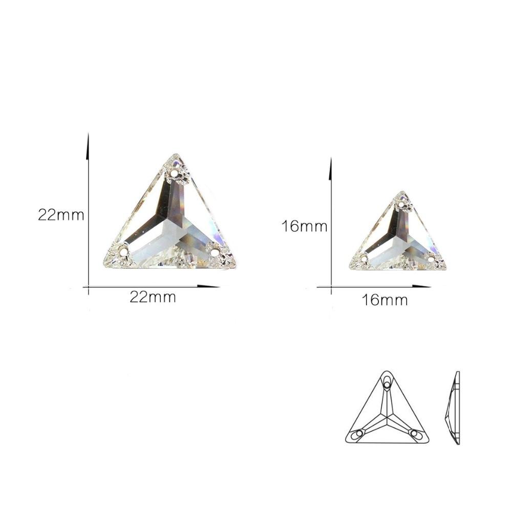 YANRUO 3270 Τρίγωνο Ράψιμο σε Rhinestones - Τέχνες, βιοτεχνίες και ράψιμο - Φωτογραφία 2