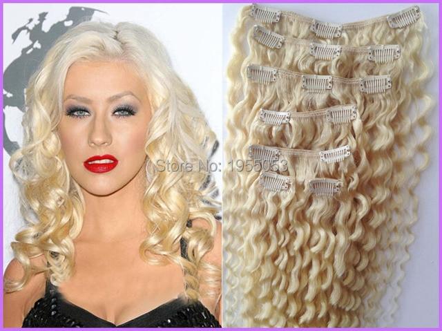 60 platinum blonde virgin brazilian hair 7pcs blonde clip in 60 platinum blonde virgin brazilian hair 7pcs blonde clip in extensions 100g kinky curly clip pmusecretfo Choice Image